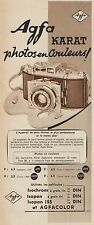 Y8477 AGFA Karat photos en couleurs - Pubblicità d'epoca - 1939 Old advertising