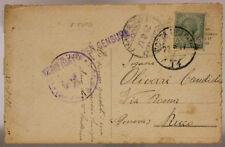 POSTA MILITARE 14 CARTOLINA AFFRANCATA TIMBRO 7° REGG. ALPINI 22.8.1917 #XP340I