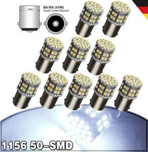 10x 50SMD 1156 LED BA15S P21 W Auto KFZ Standlicht Rücklicht Lampe Beleuchte 12V