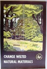 1940's WWII Military Poster: Camouflage Blinds the Enemy. Change Wilted...