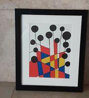 """Original Alexander Calder Lithograph """" Flowers I"""" Framed"""