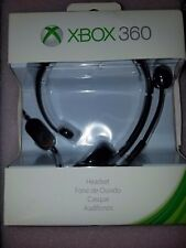 MICROSOFT XBOX 360 OFFICIAL WIRED CHAT HEADSET W/ BOOM MIC  Full Retail Box !
