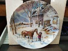 """Knowles Collectors Plate """"Trusted Companion"""" 1990 W/Coa"""