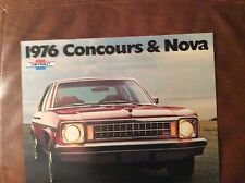 1976 Chevy Concours and Nova Sales Brochure