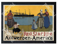 Historic Red Star Line, 1899 Shipping Advertising Postcard 1