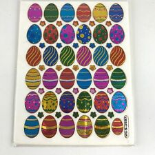 61 ASSORTED EASTER EGGS STICKERS BALLOON KIDS IQ SCRAPBOOK CARD ENVELOPE SEALING