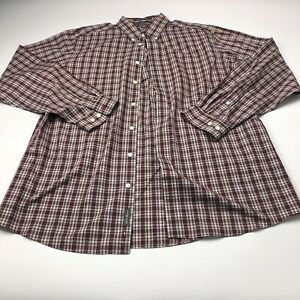 Eddie Bauer TALL LARGE Relaxed Fit Mens Button Front Long Sleeve Dress Shirt