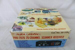 New NIB Realistic Pro 2020 Radio Scanner UHF VHF AM-FM 20 Channels w/ Box Rare