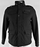 Tommy Hilfiger Men's Black Full-Zip Soft Shell Military Jacket