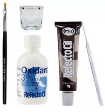 Refectocil Eyelash Eyebrow Tint Dye Kit Natural Brown No.3 +brush Dish Developer
