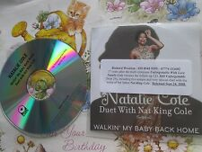 Natalie Cole Duet Wth Nat King Cole Walkin' My Baby Back Home CDr UK Promo CD