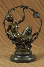 Nude Female Sexi Woman Hot Cast Deco Bronze Sculpture Statue Figurine Figure