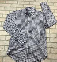 Mens Medium Peter Millar Summer Chambray Long Sleeve Button Up Dress Shirt Check