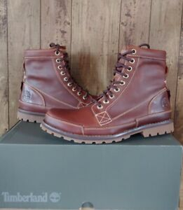 "Timberland Mens 6"" Earthkeepers Leather Boots Burnished Brown Sz 8.5 $160 15551"