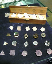 Form Platonic game of figures geometric in mineral for application Chakra