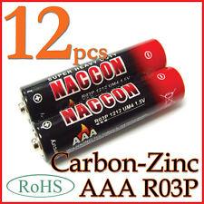 12 1.5V R03P AAA Carbon-Zinc Battery Single Use RoHS