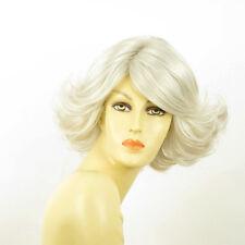 Perruque femme blanche cheveux lisses ref FLORE 60
