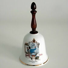 "1979 Norman Rockwell Porcelain Bell W/ ""Triple Self Portrait"" Made In W. Germany"