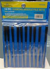 New DIAMOND NEEDLE FILE SET of 10 in Pouch Brand New-Free Shipping!