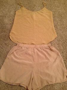 Calvin Klein Beige Polyester Camisole Set S