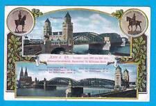 1034 ▶ AK Köln Cöln Hohenzollerbrücke 1914