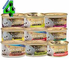 384 GOURMET GOLD 85 GR GATTO CAT MOUSSE DADINI SCATOLETTA SCATOLETTE CIBO GATTI