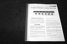 Eico ST-40 tube stereo integrated amplifier manual reprint