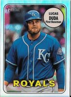 Lucas Duda 2018 Topps Heritage High Number CHROME REFRACTOR /569 Royals