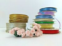 Assorted Crafting Decorative Tinsel Cord, Mini Flowers, Offray & Misc. Ribbon