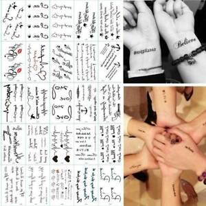 30x Waterproof Womens Mens Tattoo Temporary Tattoos Sticker Fake Tatoo Body Art