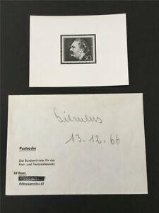 BRD ANKÜNDIGUNGSFOTO 1966 528 WERNER VON SIEMENS UMSCHLAG MINISTERIUM !!! e877