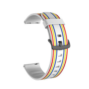 Colorful Stripe Silicone Band for Samsung Galaxy Watch 42 46mm Active 2 S3 Strap