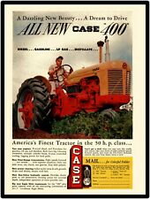 Case Farm Machinery Co. New Metal Sign: Case 400 Tractor Intro 50 HP Class