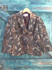 Women's Jacket Size 8 Monsoon Black Embroidered Tapestry Vintage Evening Party