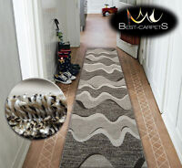 Very Thick Hall Runner SHADOW 8649 Width 70-120cm extra long Soft Densely RUGS