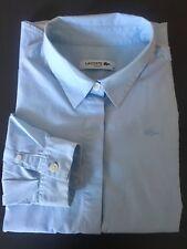 Chemisier femme Lacoste T40 Slim Fit Bleu clair Coton/élasthane