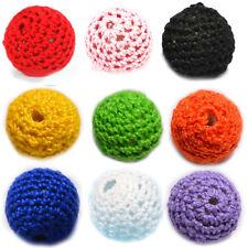10pcs Crochet Acrylic Beads 20mm Handmade Knitted Accessory Baby Toy