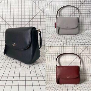 Kate Spade New York Jackson WKRU6249 Medium Flap Shoulder Bag Leather Crossbody