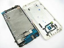 Back Housing+ LCD display touch screen+frame for The New HTC One M7 801e Silver