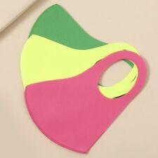 Set Of 3 Unisex Adult Neon 3D Face Mask Soft Light Washable Reusable Breathable