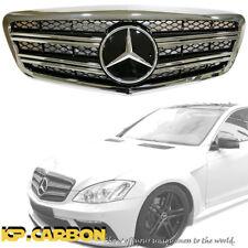 Fit 10-13 BENZ W221 S500 S600 S63 Sedan Chrome Black Double Fins Front Grille
