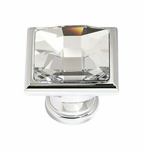 """Alno C212-PC Traditional Crystal Knobs, 1-1/4"""", Polished Chrome by Alno"""