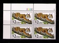 US, Sc# 2482 MNH F/VF PLATE BLOCK Bobcat Mint Never Hinged