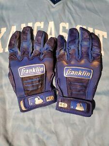 game used worn Kansas City Royals Franklin batting gloves  Mlb hologram