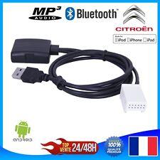 Cable MP3 Bluetooth pour autoradio d'origine Citroen à partir de 2005