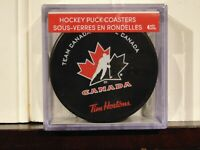 Tim Hortons Limited Edition 2018-19 Team Canada Hockey IIHF Puck Coasters 4 Pack