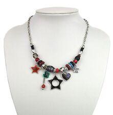 Modeschmuck-Halsketten & -Anhänger aus Emaille und gemischten Metallen für Damen