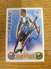 Wigan Athletic 2008/2009 autógrafo: - Kilbane, Kevin [mano firmada 'Topps coinciden con una