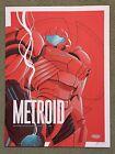 Metroid Samus Mother Brain Nintendo Game Art Print Poster Mondo Justin Froning