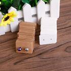 100Pcs Blank Earrings Ear Studs Display Card Hanging Tags Kraft Paper Jewelry